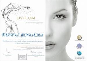 Certyfikat uczestnictwa w XVII Kongresie Stowarzyszenia Lekarzy Dermatologów Estetycznych