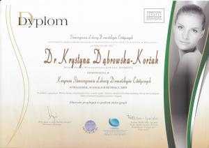 Certyfikat uczestnictwa w Kongresie Stowarzyszenia Lekarzy Dermatologów Estetycznych